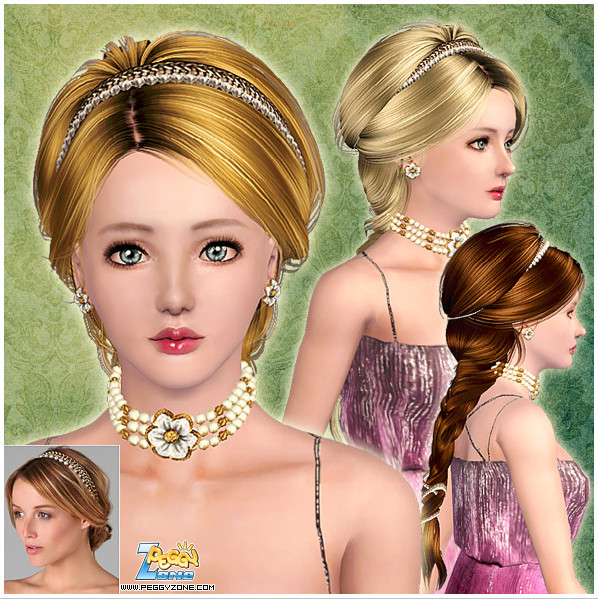 Female hair mesh #000830