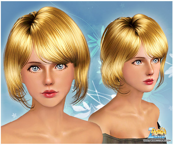 Female hair mesh #000812