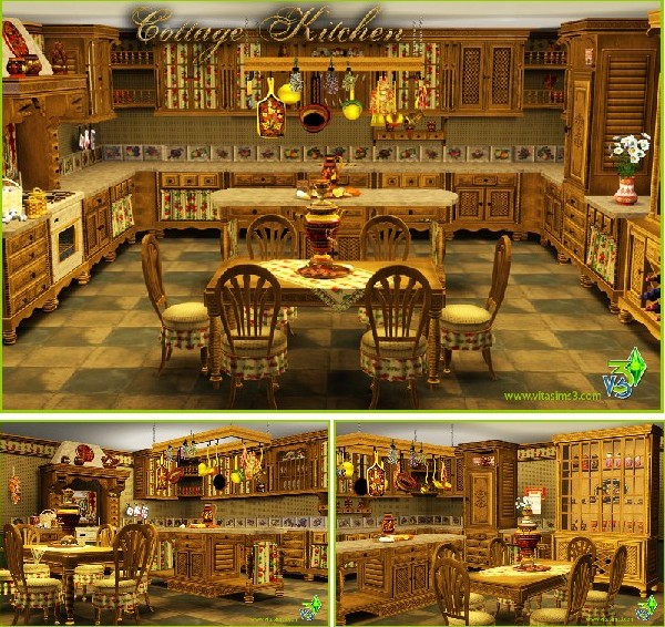 VitaSims Cottage Kitchen (updated)