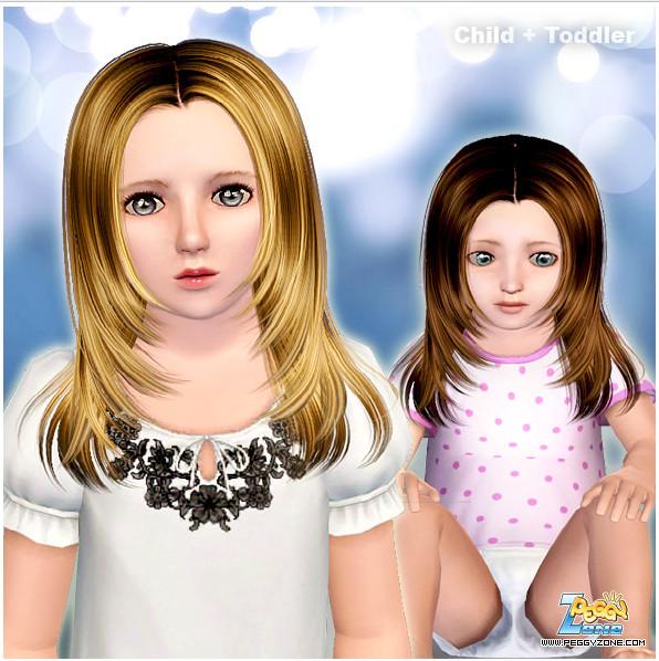 Toddler/Child hair mesh #000825