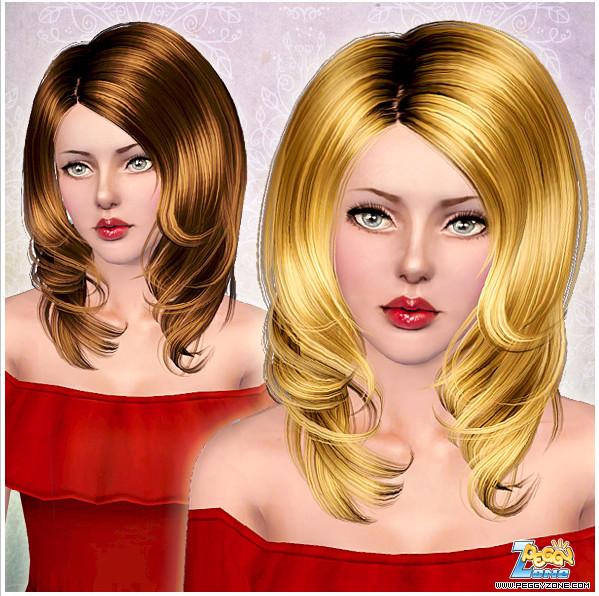 Female hair mesh #000820