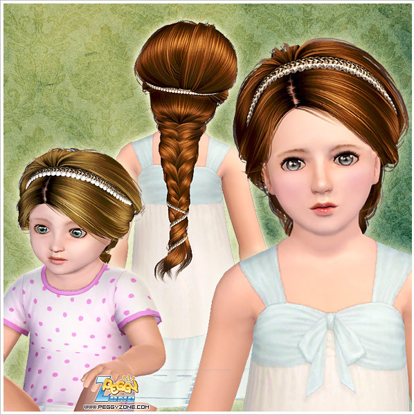 Toddler/Child hair mesh #000829