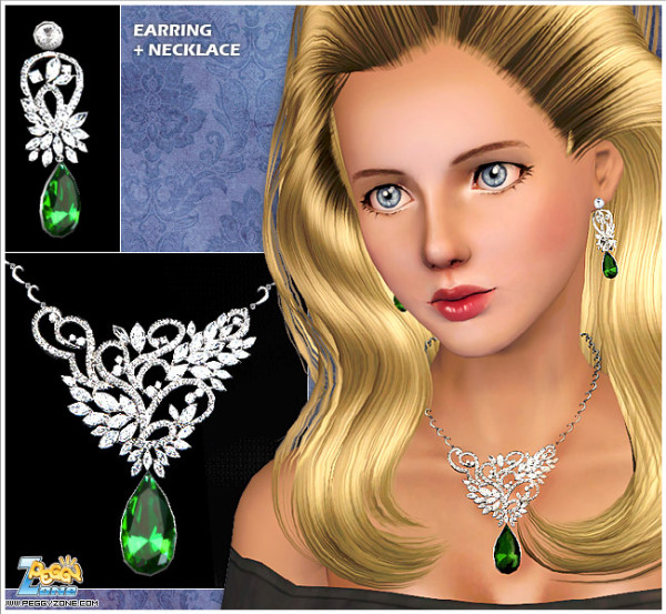Peggy #000895 – Earring&Necklace