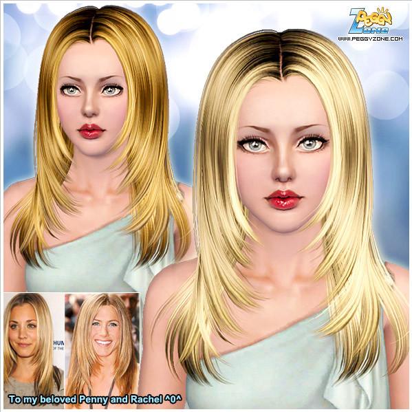 Female hair mesh #000826