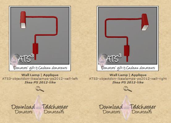 ATS Wall Lamp Ikea PS 2012-like (left-right)