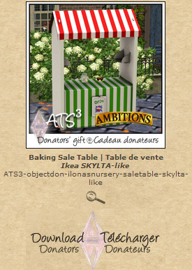 ATS Baking Sale Table