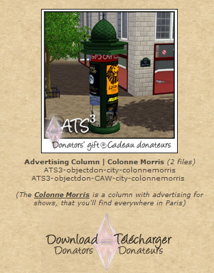 ATS Advertising Column Morris