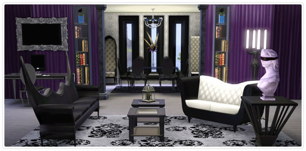 Gothic Glamour- Living Room and Home Office Collection (untouched-request)