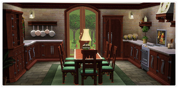 Mediterranean Villa Kitchen/Dining (untouched-request)