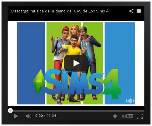 Descarga la música del CAS de Los Sims 4